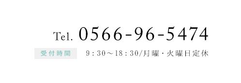 電話番号0566-96-5474